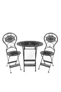 Black Metal Garden Table &...