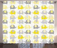 Ambesonne Cartoon Curtains,...