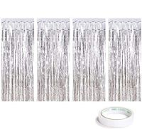 4 Pack Silver Foil Curtains...