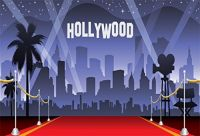 AOFOTO 10x7ft Hollywood Red...